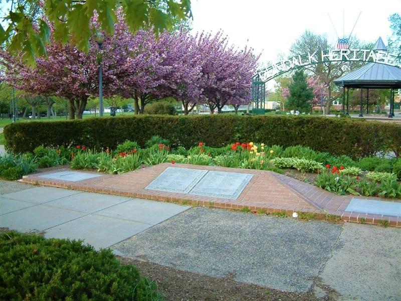 Heritage-Park-gazebo-sign-tulips